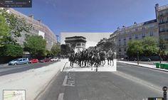 Reveladora serie que muestra con Street View los hechos ocurridos en distintas locaciones durante la Segunda Guerra Mundial.