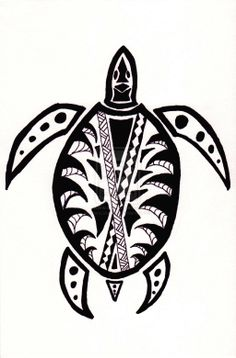 Tribal Print Animals Tribal turtle by danssketches