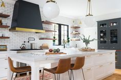 Victorian: Kitchen Remodel, Mudroom Addition and Interior Design - Transitional - Kitchen - Boston - by Realm Interiors Home Decor Kitchen, Kitchen Dining, Kitchen Ideas, Kitchen Island, Dining Room, Kitchen Modern, Kitchen Interior, Modern Farmhouse, Dining Chairs