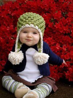 Gorro tejido en crochet