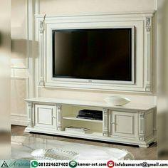 Model Meja Tv Frame Wall, Meja Tv Tembok Desain Klasik Elegan
