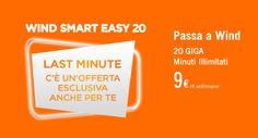 Wind Smart 9 Easy 20: la nuova offerta con minuti illimitati e 20 GB di connessione internet 4G a soli 9 euro ogni 28 giorni