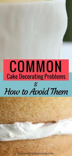 Common Cake Decorating Problems and How to Avoid Them In the cake decorating world, there are some common cake decorating problems I see and get questions about quite often. Yes, it is possible to avoid these problems. You just need the right tips! Wilton Cake Decorating, Cake Decorating Techniques, Cake Decorating Tutorials, Cookie Decorating, Mini Cakes, Cupcake Cakes, Cupcakes, Cupcake Ideas, Wilton Cakes