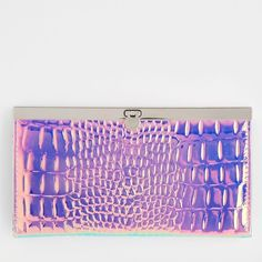 NWT Rad Holographic Wallet! This is so dope! Alligator-like texture and crazy, metallic, hologram-y color! This wallet is so cool that every time anyone sees it they're like:  in a good way. Bags Wallets