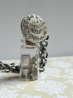 Steampunk Jewelry  Glass Vial Necklace  by AmberIlysSteamcrafts, $30.00