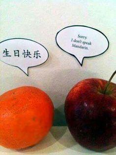 I don't speak Mandarin