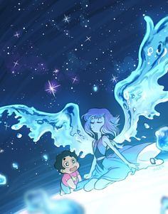 Find images and videos about steven universe, steven and lapis lazuli on We Heart It - the app to get lost in what you love. Steven Universe Pictures, Steven Universe Wallpaper, Steven Universe Drawing, Steven Universe Memes, Steven Universe Peridot, Perla Steven Universe, Universe Hd, Lapis Lazuli Steven, Lapis And Peridot