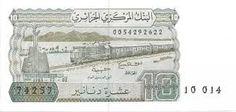 Ancien Billet de 10 Dinars Algérien..f2.