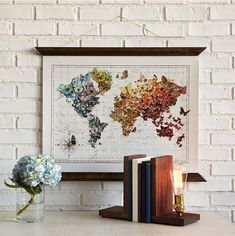 This butterfly map wall art is gorgeous! Wall Art | Wall Hanging | Butterfly Art | World Map #ad #wallart #wallhanging #walldecor #butterfly #butterflies #decor #decorate #decoratingideas #décoration #homedecor #homeoffice #homeofficeideas #map #world #worldmap