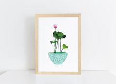 Wanddeko - Collage Lotus