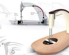 A new kind of sewing machine - Alto. This machine is visually stunning and there is so much room for quilting. However, I need both hands! With a foot pedal this would be perfect.
