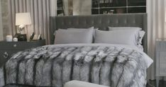 "Kylie Jenner Shows Off Her ""Glam Room"" Kylie Jenner Gives a Tour of Her House-Take a Tour of Kylie Jenner's House Glam Bedroom, Bedroom Inspo, Home Bedroom, Master Bedroom, Bedroom Decor, Glam Bedding, Bedroom Inspiration, Bedroom Furniture, Design Inspiration"