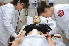Nursing students practice with SimMan 3G - PhotoBlog