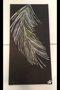 Palm Branch at Night, by Emily Doerr, my painting for sale on Etsy. - EmilysArtandDesign