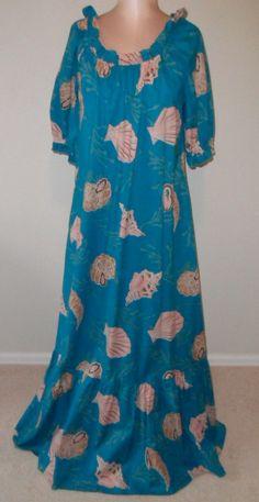 Vintage Maxi Dress Hilo Hattie Aloha Attire by desertgraceboutique, $45.00