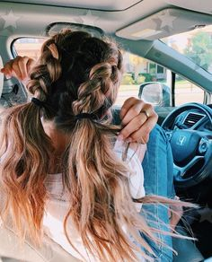 vsco girls wish they girls wish they couldvsco flickor önskar att de Cute Hairstyles For Teens, Teen Hairstyles, Pretty Hairstyles, Braided Hairstyles, Hairdos, Heatless Hairstyles, Cabelo Rose Gold, Medium Hair Styles, Curly Hair Styles