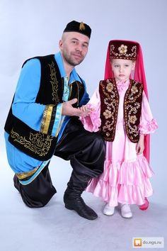 Tatars in traditional clothes