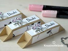 """Diese kleine Box ist richtig klasse und muss nicht geklebt werden. Verwendet habe ich das Stempelset """"Blütentraum"""" und Dank der pa..."""