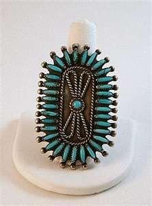 Turquoise Needlepoint Ring