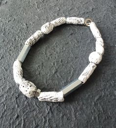 Necklace,(paperclay,nuts and bolts),Made by UNNI HOFF