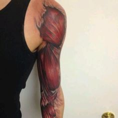 Muscle tattoo. I know, not so girly, but being a nurse I love it!