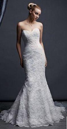 Oleg Cassini Sweatheart Mermaid Style Wedding Dress $530