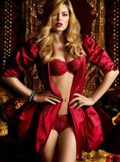 Rich jewel tones love me some fall colors! Doutzen Kroes (Victoria's Secret lingerie)