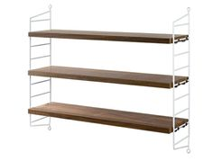 String Pocket Walnut/White Shelving