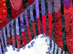 Detail 1 of Lydia - fractal art quilt