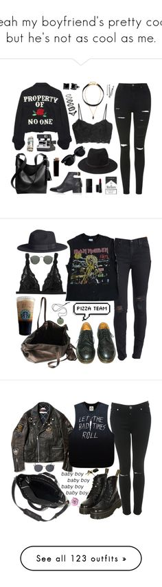 """Yeah my boyfriend's pretty cool, but he's not as cool as me."" by shattered-masterpiece ❤ liked on Polyvore featuring white, black, grunge, grey, High Heels Suicide, MANGO, Topshop, Forever 21, Oliver Peoples and Coach"