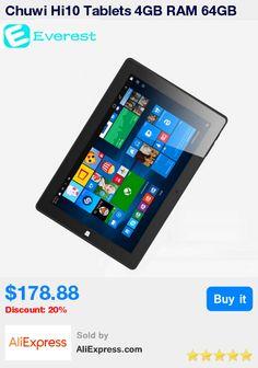 Chuwi Hi10 Tablets 4GB RAM 64GB ROM Windows 10 + Android 5.1 Tablet PC Intel Cherry Trail Z8300 10 Inch HDMI windows tablet * Pub Date: 09:04 Apr 13 2017