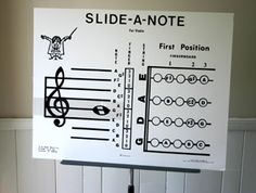 """Posters for violin teaching - I like the """"slide-a-note""""!"""