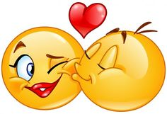 Illustration about Kissing emoticons. Male emoticon kissing a female emoticon. Illustration of emoticon, funny, female - 66652809 Smiley Emoji, Images Emoji, Emoji Pictures, Love Pictures, Emoticons Text, Funny Emoticons, Emoticon Faces, Funny Emoji Faces, Smiley Faces