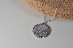St Christopher Necklace, Saint Christopher, Pendant Necklace, Sterling Silver, Trending Outfits, Unique Jewelry, Handmade Gifts, Vintage, Etsy
