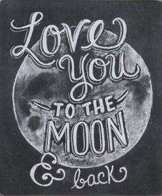 Primitives by Kathy Chalk Sign, 5-Inch by 6-Inch, to The Moon