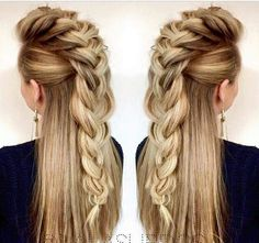 9 Respected ideas: Braided Hairstyles For Kids hairstyles trenzas.Women Hairstyles Drawing Hair Style braided hairstyles for kids. Mohawk Hairstyles For Women, Pretty Hairstyles, Braided Hairstyles, Feathered Hairstyles, Viking Hairstyles, Brunette Hairstyles, Wedge Hairstyles, Asymmetrical Hairstyles, Hairstyle Ideas