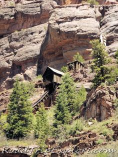 Ouray Colorado--Nineteenth century mining remains clinging to a mountains side. | Ouray Colorado--Traveling the San Juan Skyway | RoadTripExplore.com