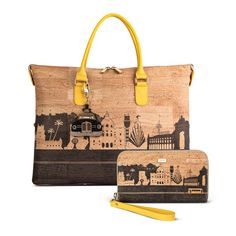"Cork Collection ""Yellow Tram"", Cork Handbag and Crossbody Bag, Handbag multiple formats, Cork Wallet Illustration, Woman Wallet Diy Purse Liner, Cork Purse, Cork Fabric, Cotton Bag, Handbags On Sale, Wallets For Women, Crossbody Bag, Reusable Tote Bags, Portugal"