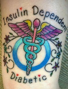 Medical Alert Tattoo, diabetes, type 1