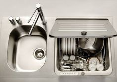 WHAT?!?! - KitchenAid IN-SINK DISHWASHER - not sure how I would feel about giving up my double sink though... might be worth it