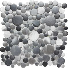 Champion Tile Aluminum, Circles, Bubbles, Brushed, Stainless Steel, Metal