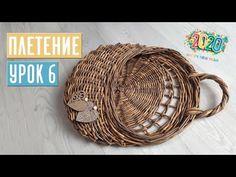 (46) ПЛЕТЕНИЕ ⚡ УРОК №6: плетем новогоднюю корзину на дверь DOOR BASKET / Садовый гид - YouTube Handmade Crafts, Diy And Crafts, Paper Crafts, Newspaper Basket, Pillow Texture, Diy For Kids, Wicker, Recycling, Weaving