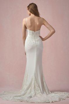 sexy wedding dress, lace wedding dress, open back wedding dress