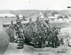 "These are the officers of the ""Fighting 69th."" They were Irish immigrants who formed the 69th New York Artillery. This Matthew Brady photo was take at the 69th's duty station where they were assigned to protect Washington, D.C. Their cannon, incidentally, was ""baptized"" by a priest."