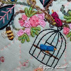 Gipsy Quilt design, I love that with well placed embroidery you can turn old sheets into beautiful blankets