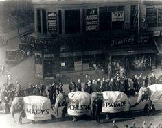First Macy's parade, Nov. 27, 1924