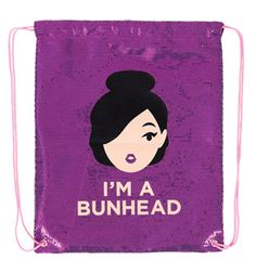 "Sequin Cinch ""I'm A Bunhead"" Bag   DiscountDance.com"