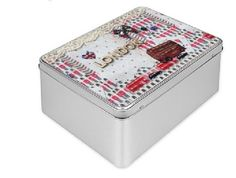 London Treasure Tin Gift Box with red bus