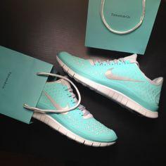 Tiffany Blue Nike shoes...<3