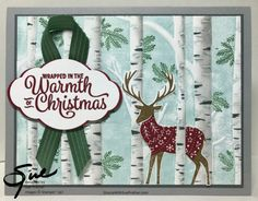 Eighteen Stampin' Up! Projects by Amy's Inkin' Krew Featured Stampers (Stamp With Amy K) Christmas Cards To Make, Xmas Cards, Christmas Crafts, Christmas 2017, Advent, Card Patterns, Christmas Animals, Winter Cards, Christmas Design